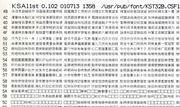 KST32B(旧)の一覧印刷例(KSTool(別途参照)のKSAlistを使用)