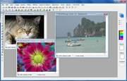 用意されたドローやレタッチ機能で自由に画像を編集できる