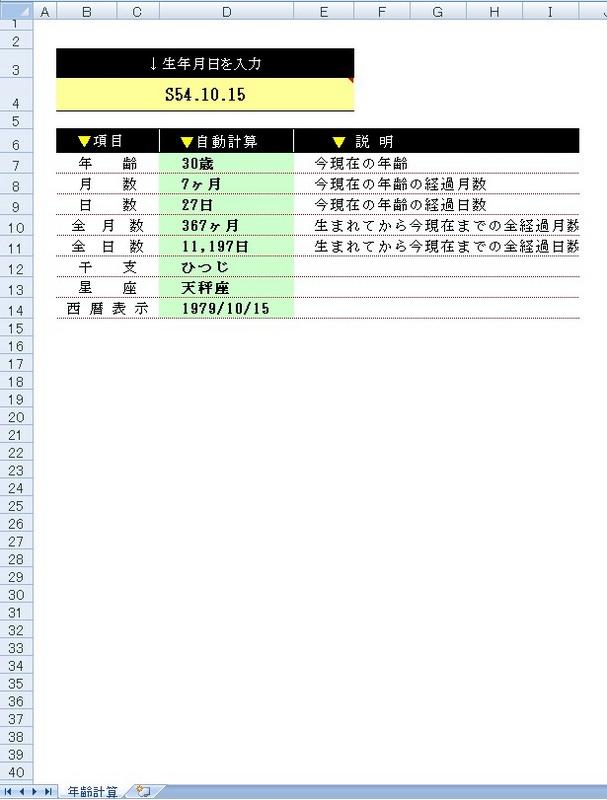 年齢・干支・星座計算PPの詳細情報 : Vector ソフトを探す!