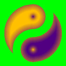 グラデーション太極図の詳細情報 Vector ソフトを探す
